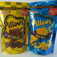 oishi pillows isi 120 g rasa durian, keju, coklat, ubi