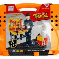 Terlaris Tool Set Koper 63 Pcs 1092 - Mainan Anak Tools Alat Tukang