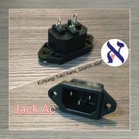 Jack Ac Male Komputer sasis body casing box socket soket