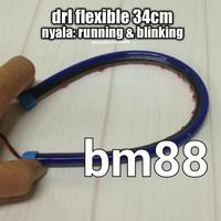 DRL Neon Flexible 34cm Led Alis ~ Running & Blinking Fleksibel 30cm