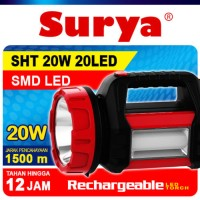 Senter lampu LED Surya SHT 20W 20LED White