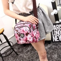 Smile Way Women Nylon sling Bag / Tas Selempang Korea Nilon Wanita