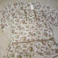 blouse wanita floral Tunik cantik Kalem Sisa import Japan size L