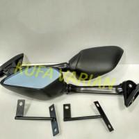 Spion R25 / R15 / Nmax Black + Breket Import berkualitas