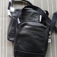 Fossil Man Messenger Bag Black Leather. Tas Fossil Original