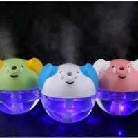 Aromatherapy-Lucky Elephant Shape Portable Mini Humidifier Night Lamp