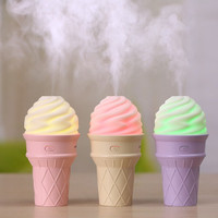 Aromatherapy-Ice Cream Shaped LED Lamp Humidifier Lighting Air Diffuse