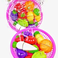TERMURAH Vegetable Basket KS-6502 / Buah Sayur Potong Mainan