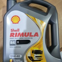 "Oli Shell Rimula X R4 15W-40 Galon 5Lt  10286 """