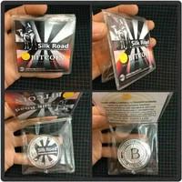 Silver Coin BITCOIN Silk Road Commemorative Coin - Koin Souvenir