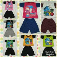 Setelan Baju Kaos Anak Size 1 - 2 Tahun