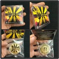 Gold Coin BITCOIN Silk Road Commemorative Coin - Koin Souvenir