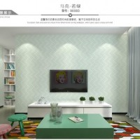 Wallpaper 3D Non Woven Embossed Mosaic Ephedra Plain 53cmx10m-Green 90
