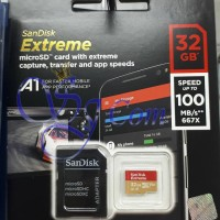 SANDISK EXTREME MICRO SDHC 32GB SPEED 100MBPS CLASS 10 UHS-1 4K UHD