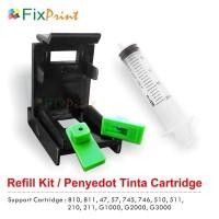 Refil Kit Klip Penyedot Tinta Cartridge Canon ip2770 mp287 mp258 mx366