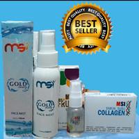 msi paket 3in1:msi bio spray +msi fruit serum +sabun collagen