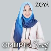 Nyaman adem Zoya Kerudung OMBRE Jilbab Hijab Scarf Segi empat tidak
