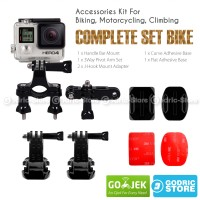Action Cam Complete Set for Bike Helmet for Xiaomi Yi, GoPro & BRICA