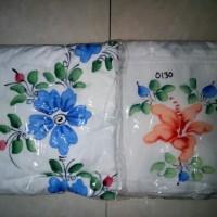 Mukena Rayon Terusan Lukis Warna Putih
