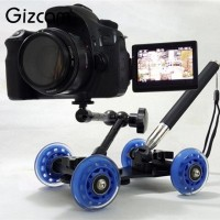 skater dolly slider with magic arm monopod doly steady panning smooth