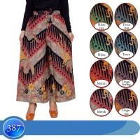 Celana Kulot JUMBO XXL 2L Bahan katun motif batik karet pinggang
