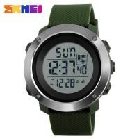Jam Tangan Digital Pria Size Small SKMEI 1267 Original - Army Green