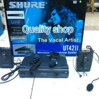 (Murah) microphone wireles shure UT42ii ( clip on + headset)