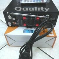 (Dijamin) ampli mini coustic ca-108 AC/DC 4 channel