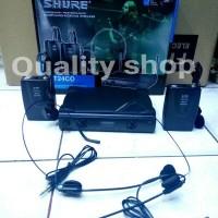 (Murah) microphone shure UT24CO (2 clip on 2 headset)