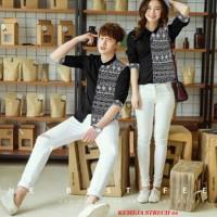 Jakarta Couple - Kemeja Pasangan Diamond Black 01