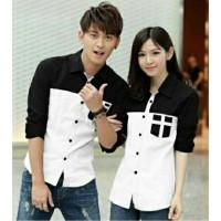 Jakarta Couple Kemeja Pasangan Avery Putih / Couple Shirt Avery White