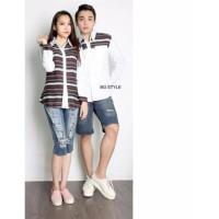 Jakarta Couple - Kemeja Couple Romantic White Kemeja Couple Terbaru