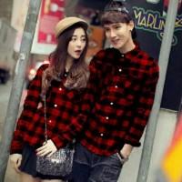Jakarta Couple - Kemeja Couple Marley Merah