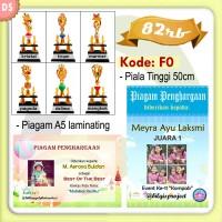 Paket Dropship F0 (Piala/Trophy, Piagam Laminating) EO PC
