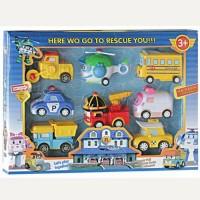mainan anak karakter robocar poli isi 8pcs