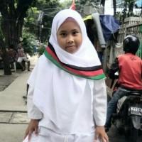 Jilbab Palestina Segiempat Double Hycone Palestin Anak Warna Putih
