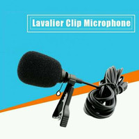 3,5mm Aux Clip On Microphone bahan Full Metal For PC, Smartphone