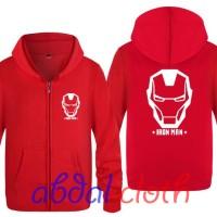 Jaket Sweater The Avengers IRON MAN - Red