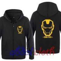 Jaket Sweater The Avengers IRON MAN - Black