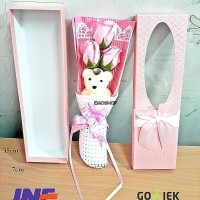 Bouquet Flower Soap With Doll, valentine gift//anniversay IMPORT MURAH