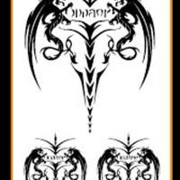 Tato/Tatto temporary/Tatto kecil/ Tatto logo 10.5x6 cm X-421