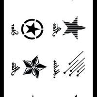 Tato/Tatto temporary/Tatto kecil/ Tatto bintang10.5x6 cm X-532