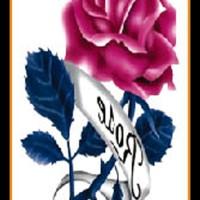 Tato/Tatto temporary/Tatto kecil/ Tatto mawar 10.5x6 cm X-383