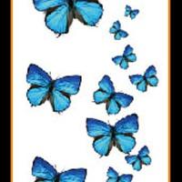 Tato/Tatto temporary/Tatto kecil/ Tatto kupu-kupu 10.5x6 cm X-427