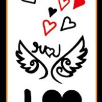 Tato/Tatto temporary/Tatto kecil/ Tatto sayap 10.5x6 cm X-465