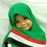 Jilbab Palestina Segiempat Double Hycone Palestin Anak Warna Hijau