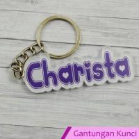 gantungan kunci couple, gantungan kunci akrilik, gantungan kunci nama