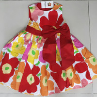 SALE DRESS ANAK FK RED FLOWER