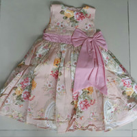 SALE DRESS ANAK FK PINK FLOWER