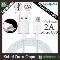 Kabel Data Chargeran Oppo 2A V8 Original 100% USB Micro Cable Data ORI